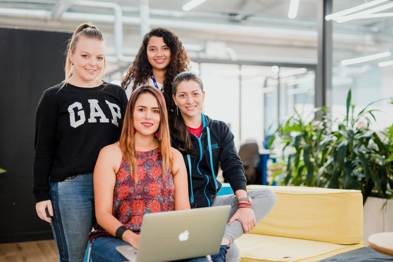 Group of women in technology